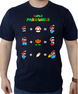Camiseta Mario Power Up